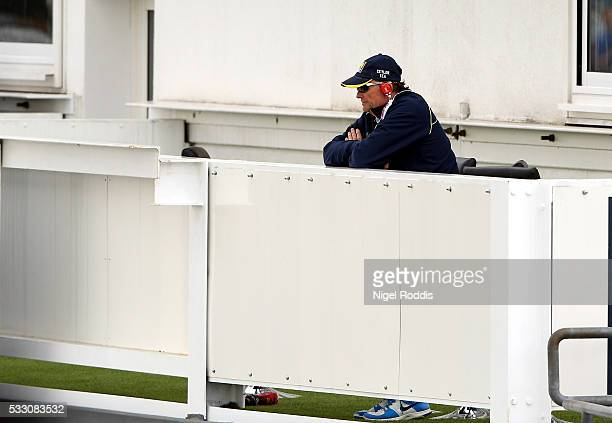 Graham Ford Head Coach of Sri Lanka watches during day two of the 1st Investec Test between England and Sri Lanka at Headingley Stadium on May 20...