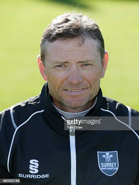 Graham Ford head coach of Surrey poses for a portrait during the Surrey CCC photocall at The Kia Oval on March 24 2014 in London England