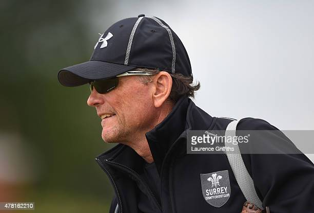 Graham Ford of Surrey looks on during the LV County Championship match between Derbyshire and Surrey at The County Ground on June 23 2015 in Derby...