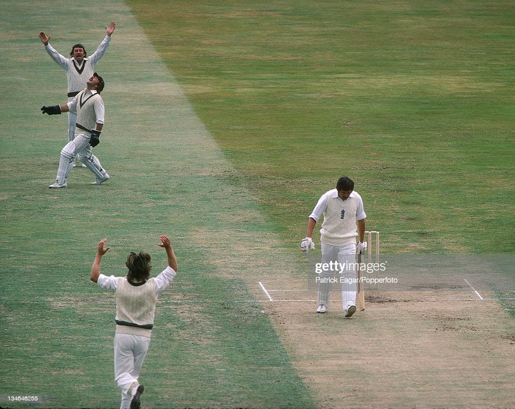 Graham Gooch caught Marsh bowled Thomson 0 in his first Test match England v Australia 1st Test Edgbaston July 1975