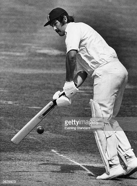Graham Gooch Essex and England cricket captain in action batting Original Publication People Disc HU0335