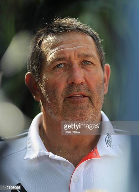 Graham Gooch of England talks to the press at a press conference at the Heritance Hotel Ahungalla on March 30 2012 in Ahungalla Sri Lanka
