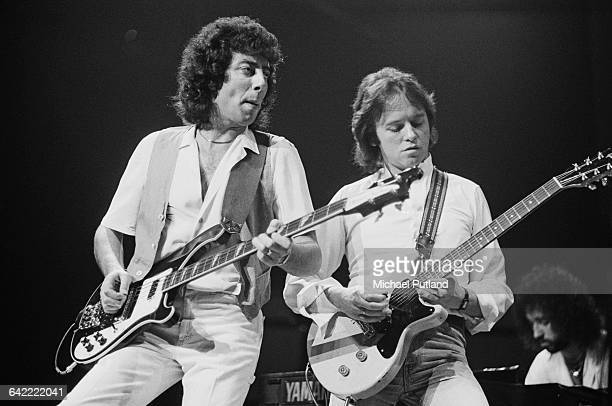 Graham Gouldman and Eric Stewart performing with English rock band 10cc USA November 1978 In the background is Kevin Godley