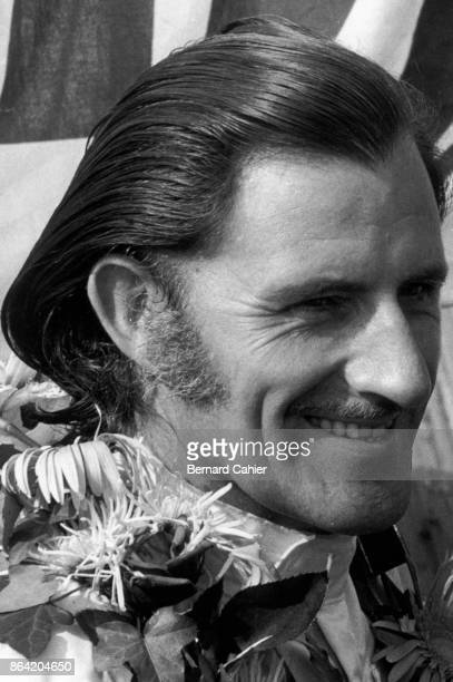 Graham Hill 24 Hours of Le Mans Le Mans 11 June 1972 A smiling Graham Hill after his victory in the 1972 edition of the 24 Hours of Le Mans with...