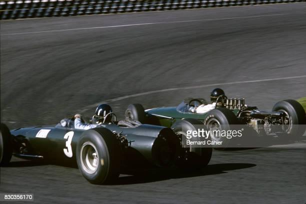 Graham Hill Dan Gurney Brabham BT11 BRM P261 Grand Prix of Mexico Autodromo Hermanos Rodriguez 24 October 1965