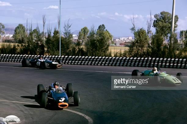 Graham Hill Innes Ireland Dan Gurney BRM P261 BRP Mk2 BrabhamClimax BT11 Grand Prix of Mexico Autodromo Hermanos Rodriguez Magdalena Mixhuca 25...