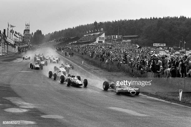 Graham Hill Jim Clark Jackie Stewart BRM P261 LotusClimax 33 Grand Prix of Belgium Spa Francorchamps 13 June 1965
