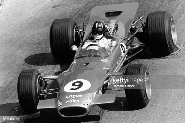 Graham Hill LotusFord 49B Grand Prix of Monaco Circuit de Monaco 26 May 1968 Graham Hill at the wheel of his Lotus 49B on his way to a fourth victory...