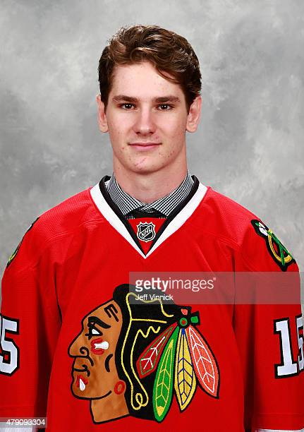 Graham Knott poses for a portrait after being selected 54th overall by the Chicago Blackhawks during the 2015 NHL Draft at BBT Center on June 27 2015...
