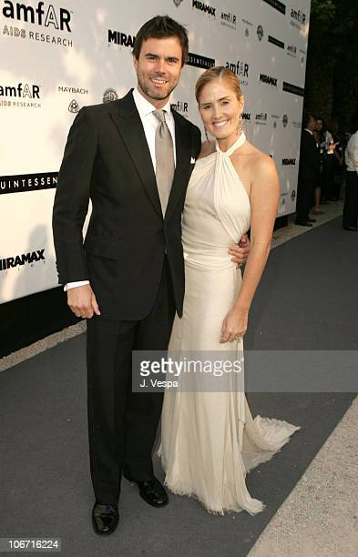 Graham Larson and Mary Alice Haney during amfAR's 'Cinema Against AIDS Cannes' Benefit Sponsored by Miramax and Quintessentially Red Carpet at Moulin...