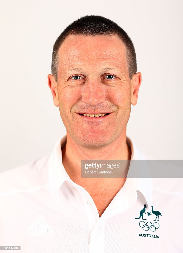 Graham Lee poses during an Australian Boomers Basketball team headshots session at The Blackman Hotel on August 20 2015 in Melbourne Australia