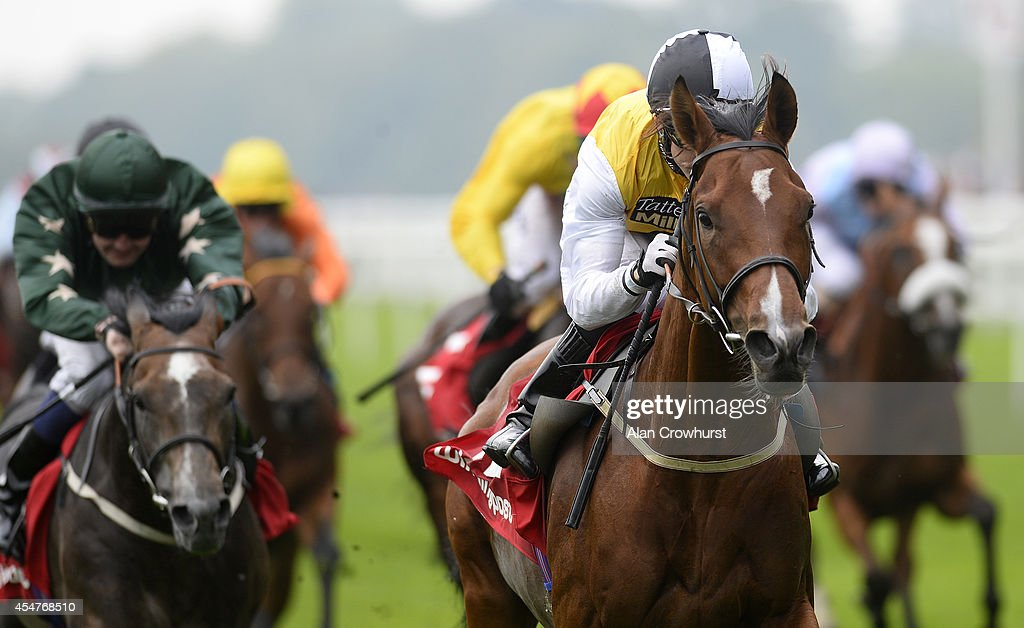 Graham Lee riding Battersea win The Winning Post Bookmakers Bristol Handicap Stakes at Ascot racecourse on September 06 2014 in Ascot England
