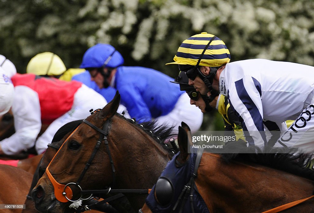 Graham Lee riding Monsieur Joe on their way to winning The Betfred Supports Jack Berry House Stakes at York racecourse on May 15 2014 in York England