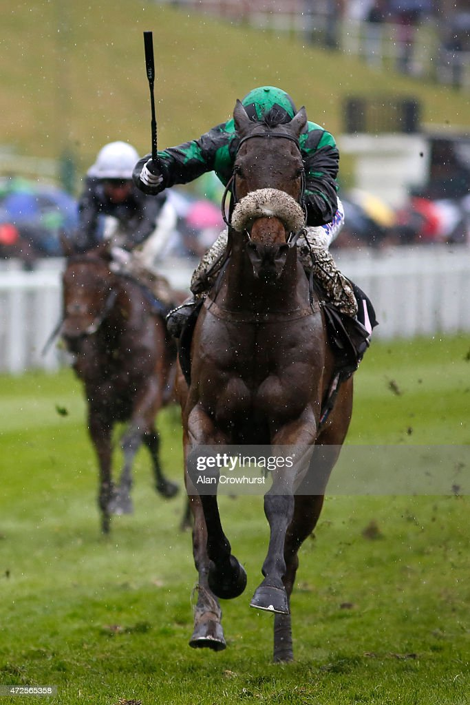 Graham Lee ridng Clever Cookie win The Boodles Diamond Ormonde Stakes at Chester racecourse on May 08 2015 in Chester England