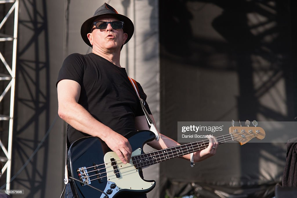 Graham Lewis of Wire performs on stage on Day 1 of Pitchfork Music Festival 2013 at Union Park on July 19, 2013 in Chicago, Illinois.