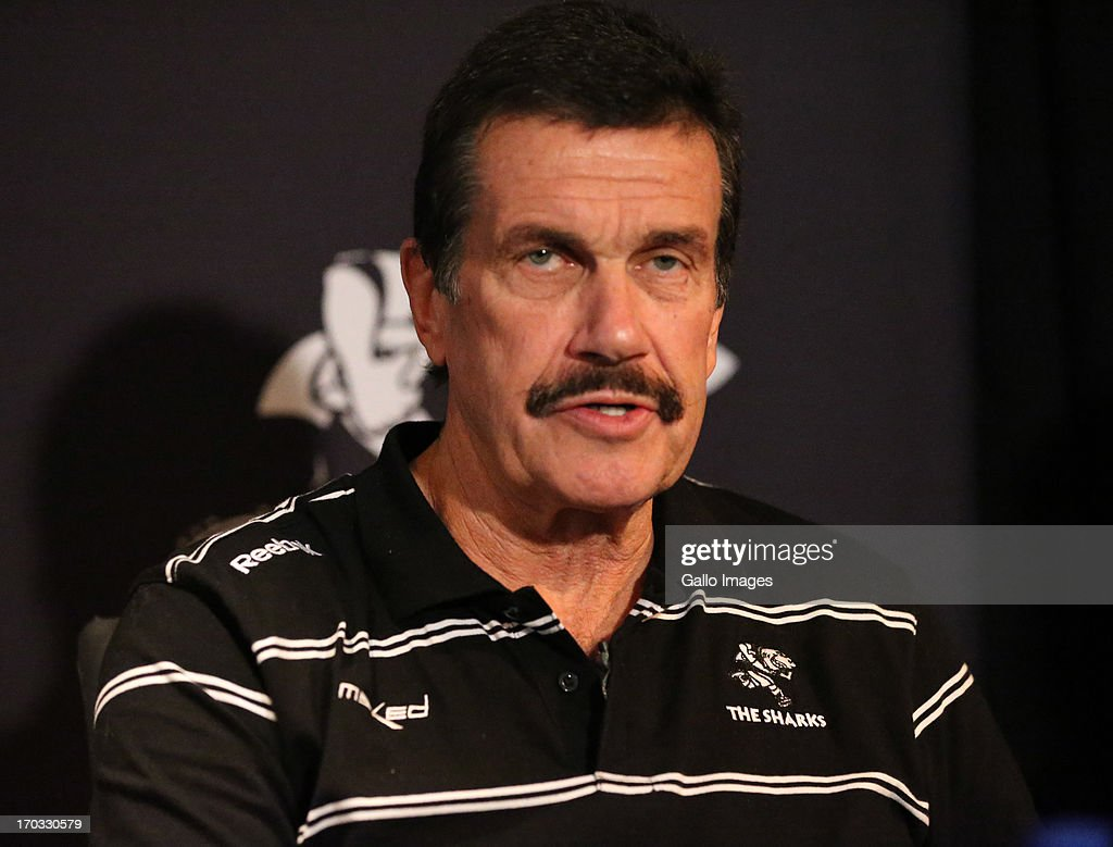 Graham MacKenzie President KwaZulu - Natal Rugby Union during The Sharks announcement of their new CEO at Growthpoint Kings Park on June 11, 2013 in Durban, South Africa.