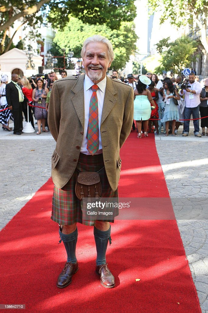 Graham Mcintosh from COPE KZN, wearing his traditional scottish 'beshu' at the State of the Nation Address at the opening of Parliament in Cape Town, South Africa on 9 February 2012. Parliament was opened in the annual ceremony where President Jacob Zuma delivered his state of the nation address.