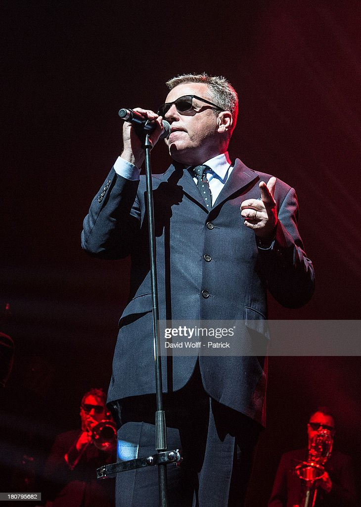 Graham McPherson from Madness performs at L'Olympia on September 16, 2013 in Paris, France.