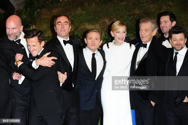 Graham McTavish Adam Brown James Nesbitt Martin Freeman Cate Blanchett Sir Ian McKellen Richard Armitage and Andy Serkis arriving for the UK Premiere...