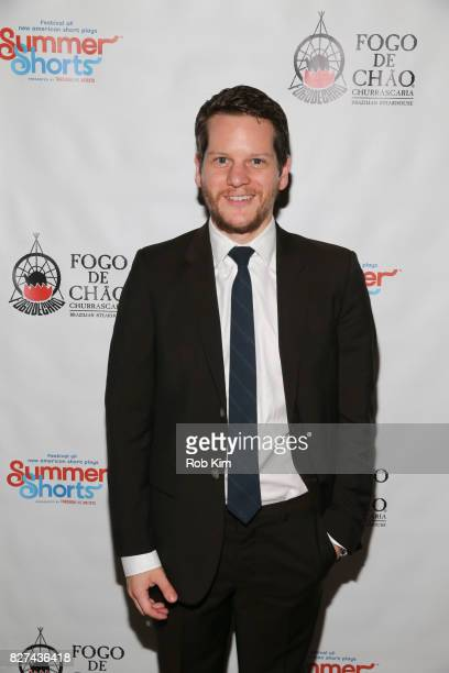 Graham Moore attends the OffBroadway opening night party for 'SUMMER SHORTS 2017' at Fogo de Chao Churrascaria on August 7 2017 in New York City