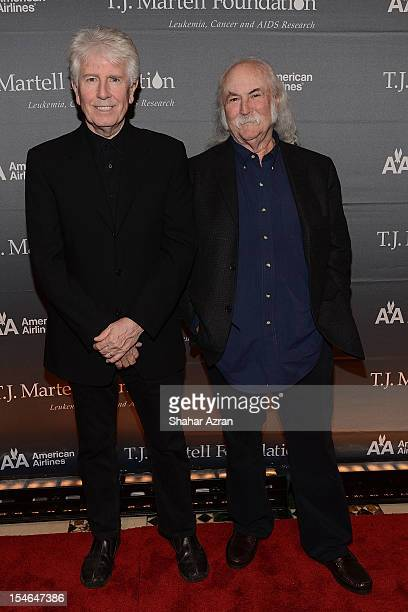 Graham Nash and David Crosby attend the 37th Anniversary TJ Martell Foundation Awards Gala at Cipriani 42nd Street on October 23 2012 in New York City
