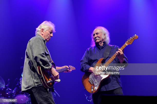 Graham Nash and David Crosby perform at Hamptons Rocks For Charity To Benefit OCRF and CCFA at East Hampton Studio on September 1 2011 in Wainscott...