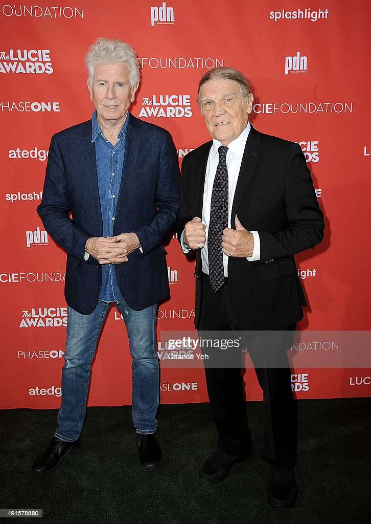Graham Nash (L) and Henry Diltz attend 13th Annual Lucie Awards at Zankel Hall, Carnegie Hall on October 27, 2015 in New York City.
