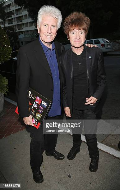 Graham Nash and Rodney Bingenheimer attend Visual Harmony the stunning photography of rock icon Graham Nash Opening Reception held at the Morrison...