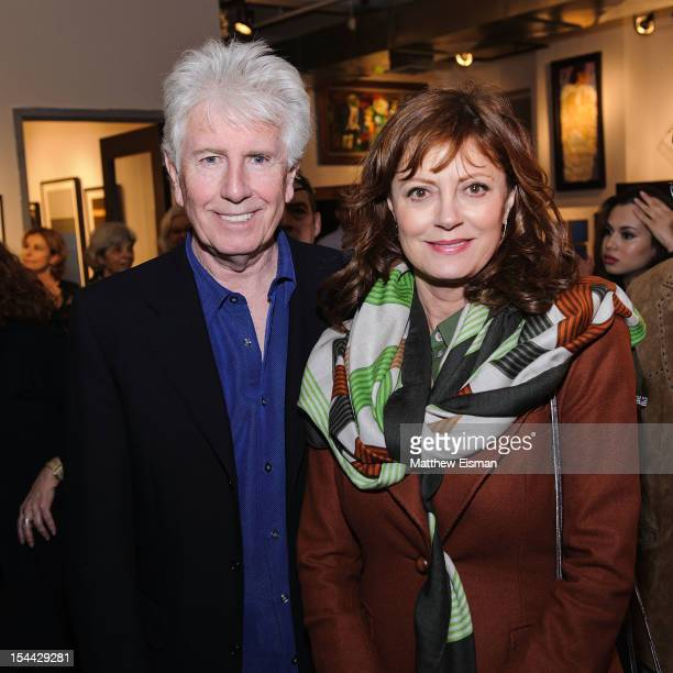 Graham Nash and Susan Sarandon attend the 'The Art of Graham Nash' Artist Reception at ACA Galleries on October 18 2012 in New York City