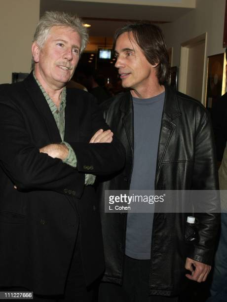 Graham Nash Jackson Browne during Fred Walecki and Friends Celebrate Opening of Westwood Music Store at Westwood Music Store in Westwood California