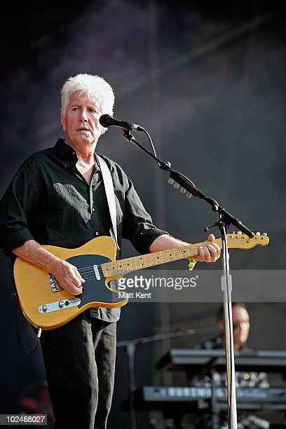 Graham Nash of CSN performs at Day 3 of Hard Rock Calling at Hyde Park on June 27 2010 in London England