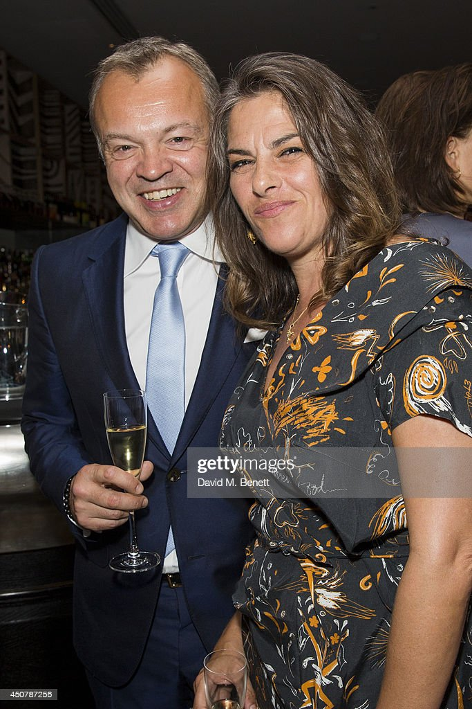 Graham Norton and Tracey Emin attend the GQ dinner to celebrate London Collections: Men SS15 at Ham Yard Hotel on June 17, 2014 in London, England.