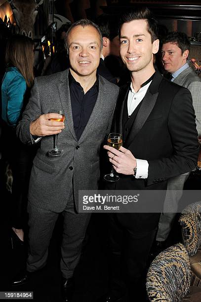 Graham Norton and Trevor Patterson attend a private dinner hosted by Tom Ford to celebrate his runway show during London Collections MEN AW13 at...