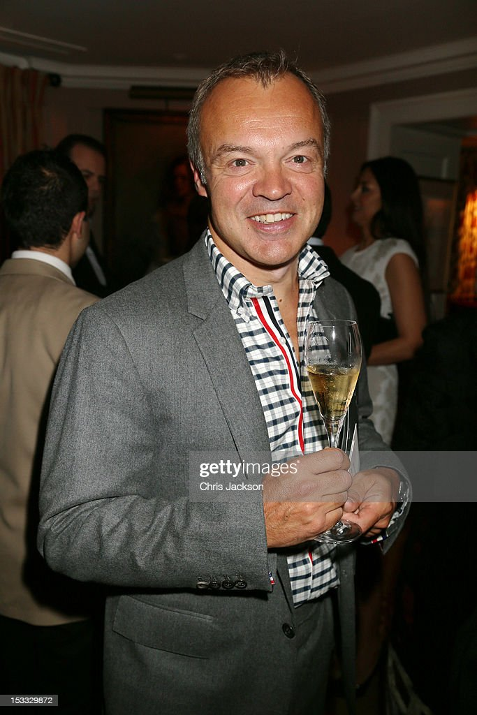 <a gi-track='captionPersonalityLinkClicked' href=/galleries/search?phrase=Graham+Norton&family=editorial&specificpeople=206423 ng-click='$event.stopPropagation()'>Graham Norton</a> attends a dinner at 5 Hertford Street to celebrate Pace London's opening on October 3, 2012 in London, England. The dinner followed the Private View of the exhibition Rothko/Sugimoto: Dark Paintings and Seascapes at the new Pace London Gallery, 6 Burlington Gardens.