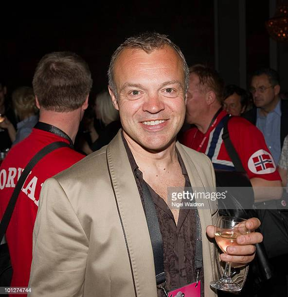 Graham Norton attends afterparty at the plaza hotel to celebrate the grand final of the eurovision song contest on May 29 2010 in Oslo Norway