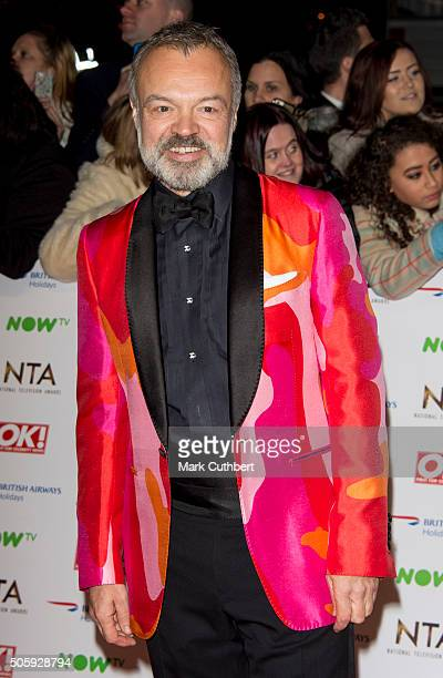 Graham Norton attends the 21st National Television Awards at The O2 Arena on January 20 2016 in London England