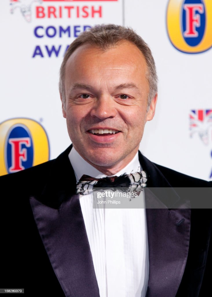 <a gi-track='captionPersonalityLinkClicked' href=/galleries/search?phrase=Graham+Norton&family=editorial&specificpeople=206423 ng-click='$event.stopPropagation()'>Graham Norton</a> attends the British Comedy Awards at Fountain Studios on December 12, 2012 in London, England.