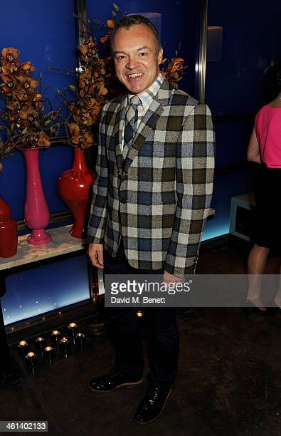 Graham Norton attends the London Collections Men closing dinner hosted by Dylan Jones and Anya Hindmarch at Hakkasan Hanway Place on January 8 2014...