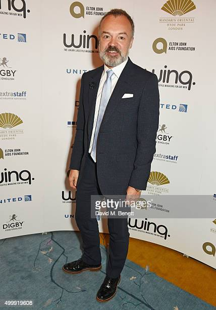 Graham Norton attends the Winq Magazine Men of the Year lunch to benefit the Elton John Aids Foundation at The Mandarin Oriental Hyde Park on...