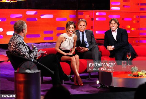 Graham Norton Cheryl Cole Don Johnson and John Bishop during filming of the Graham Norton Show at the London Studios south London to be aired on BBC...