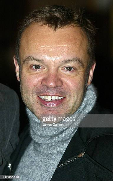 Graham Norton during 'Edward Scissorhands' West End Premiere and Press Night Arrivals at Sadler's Wells Theatre in London Great Britain