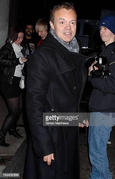 Graham Norton is seen on December 6 2008 in London England