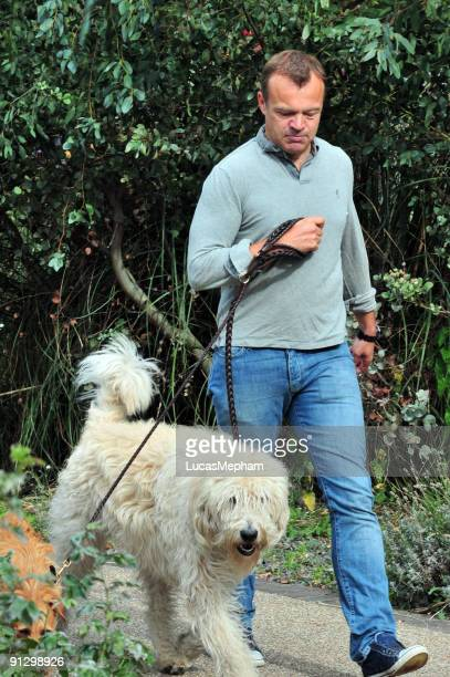 Graham Norton is seen out walking his dogs on October 1 2009 in London England