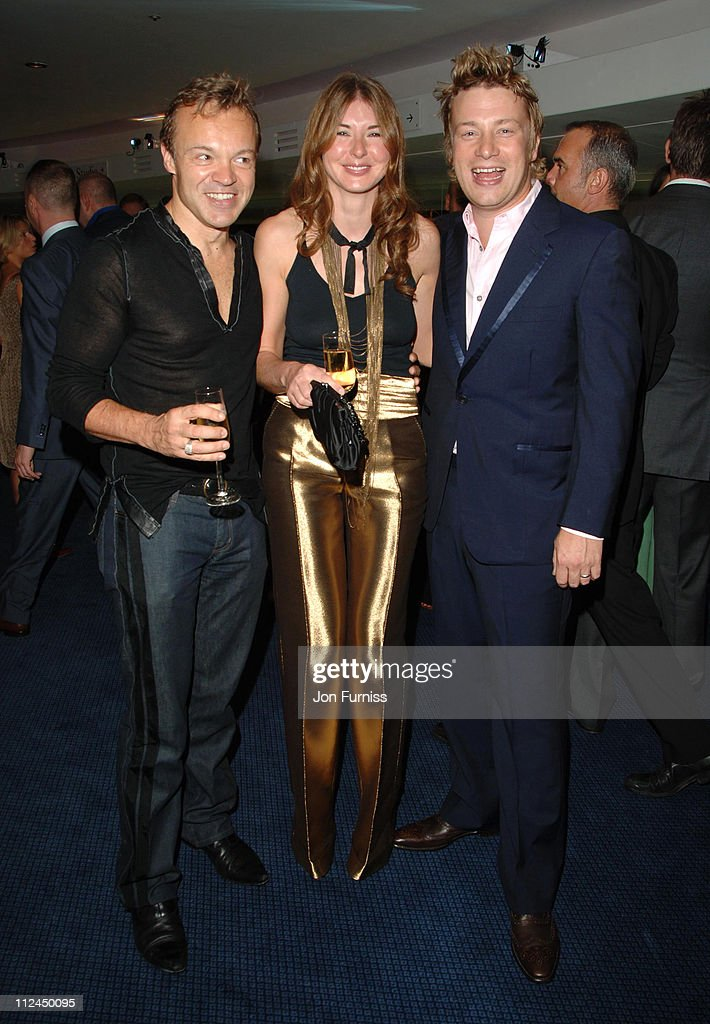 Graham Norton, Jamie Oliver and Jools Oliver during GQ Men of the Year Awards - Drinks Reception at Royal Opera House in London, Great Britain.