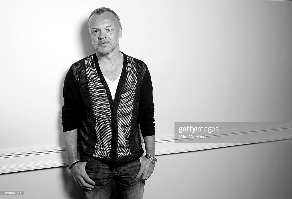 Graham Norton poses for Stella/Esquire Portrait Studio at Somerset House on May 29, 2013 in London, England.