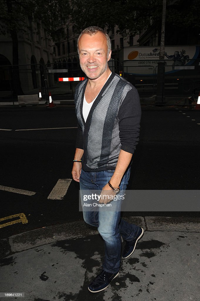 Graham Norton sighting arriving at the Esquire Summer Party Somerset House The Strand on May 29, 2013 in London, England.