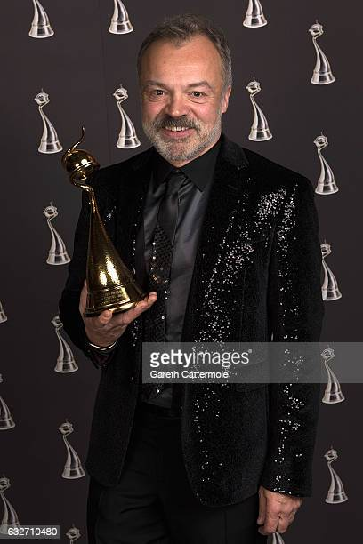 Graham Norton with the Special Recognition Award at the National Television Awards at The O2 Arena on January 25 2017 in London England