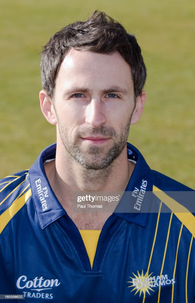 Graham Onions of Durham CCC wears the Yorkshire Bank 40 kit during a pre-season photocall at The Riverside on April 3, 2013 in Chester-le-Street, England.