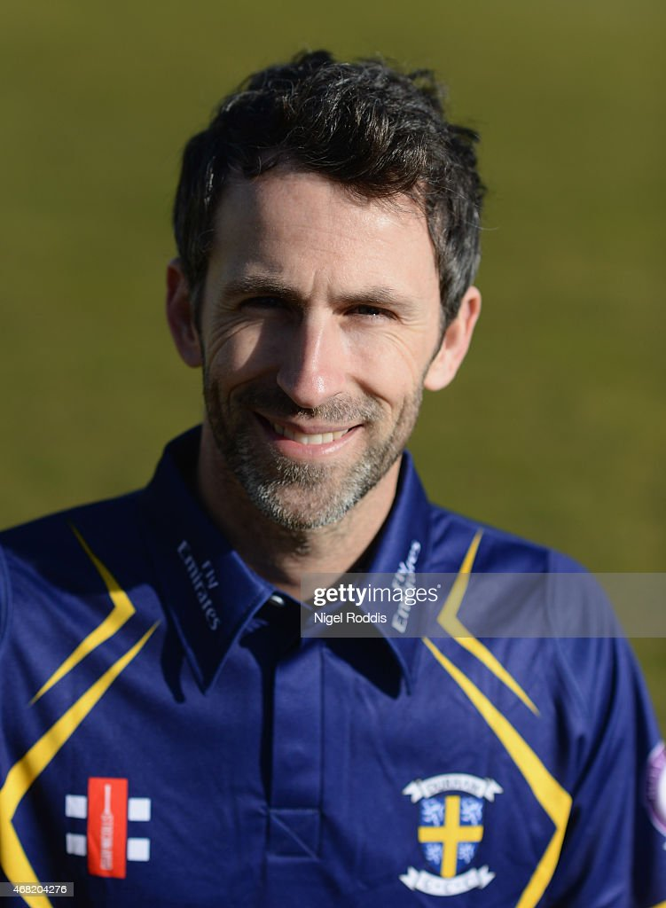 Graham Onions of Durham poses for a portrait during the Durham CCC Photocall at The Riverside on March 31 2015 in ChesterleStreet England