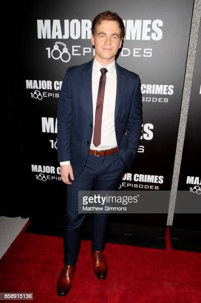 Graham Patrick Martin at TNT's 'Major Crimes' 100th episode celebration at 71Above on October 7 2017 in Los Angeles California